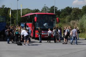 Einstieg in den Bus